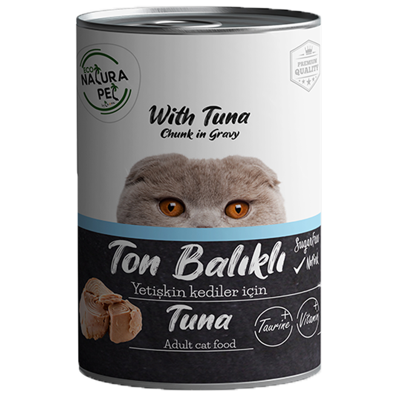 econatura chunk in gravy tuna cat food copy